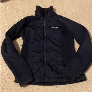 Columbus black zip up jacket